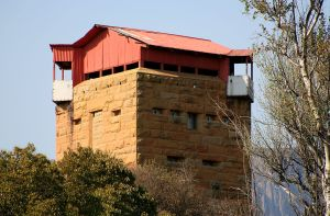 One of the 8,000 or so blockhouses encircling the Boer Republics. Photo Credit: Wiki Commons
